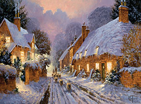 snowy english village wallpaper - photo #21